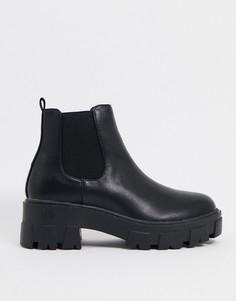Черные ботинки челси на массивной подошве RAID-Черный