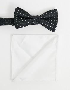 Галстук-бабочка и платок для нагрудного кармана в горошек Jack & Jones-Мульти
