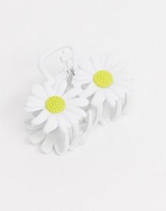 Заколка для волос с цветочнымдизайномASOS DESIGN-Белый