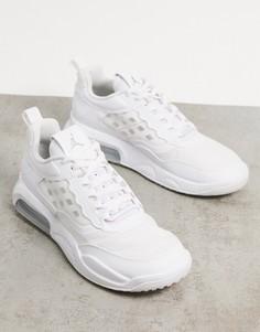 Белые/серебристые кроссовки Nike Jordan Air Max 200-Белый