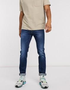 Зауженные эластичные джинсы Diesel Thommer-X-Синий