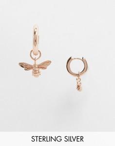 Серьги-кольца с покрытием розовым золотомOlivia Burton-Золотой
