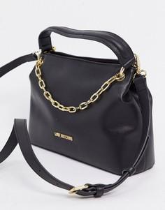 Черная сумка-тоут с цепочкойLove Moschino-Черный