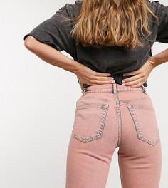 Розовые узкие джинсыпрямого крояASOS DESIGN-Розовый