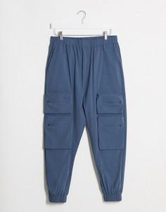 Синие суженные джоггеры карго от комплекта ASOS DESIGN-Синий
