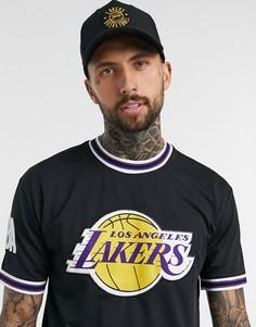 Черная футболка с аппликацией New Era NBA LA Lakers-Черный