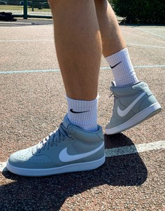 Серые баскетбольные кроссовки Nike Court Vision-Мульти