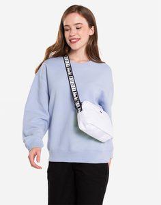 Голубой свитшот oversize Gloria Jeans