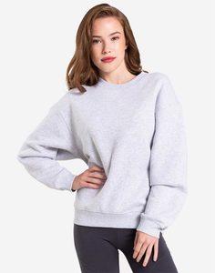 Светло-серый свитшот oversize Gloria Jeans