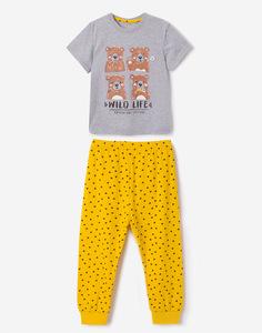 Пижама с рисунками для мальчика Gloria Jeans