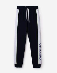 Синие спортивные брюки с лампасами для мальчика Gloria Jeans