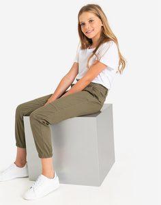 Хаки брюки-джоггеры для девочки Gloria Jeans