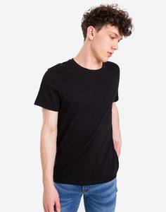 Чёрная базовая футболка Gloria Jeans