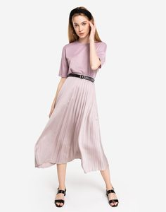 Розовая блестящая футболка oversize Gloria Jeans