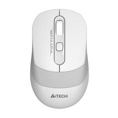 Мышь A4 Fstyler FG10S, оптическая, беспроводная, USB, белый и серый