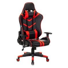 Кресло игровое БЮРОКРАТ CH-789N, на колесиках, искусственная кожа, черный/красный [ch-789n/bl-r]