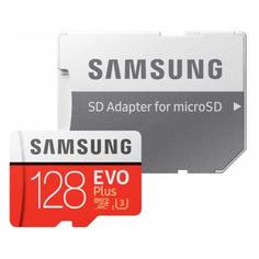 Карта памяти microSDXC UHS-I U3 SAMSUNG EVO PLUS 128 ГБ, 100 МБ/с, Class 10, MB-MC128HA/RU, 1 шт., переходник SD