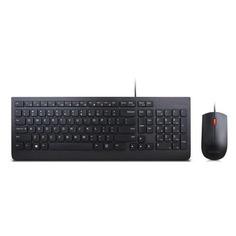 Комплекты (Клавиатура+Мышь) Комплект (клавиатура+мышь) LENOVO Wired Combo Essential, USB, проводной, черный [4x30l79912]