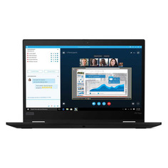 """Ноутбук LENOVO ThinkPad X13 Yoga G1 T, 13.3"""", IPS, Intel Core i5 10210U 1.6ГГц, 16ГБ, 512ГБ SSD, Intel UHD Graphics , Windows 10 Professional, 20SX001GRT, черный"""