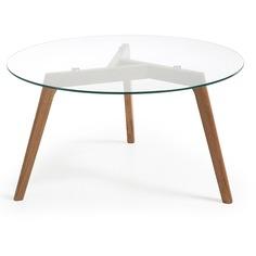 Журнальный столик brick (la forma) прозрачный 45 см.