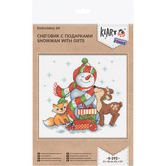 """Набор для вышивания Klart """"Снеговик с подарками"""""""