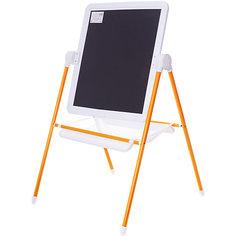 Детский двухсторонний мольберт (оранжевый с белым) Demi