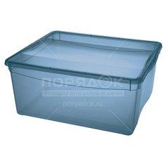 Ящик хозяйственный, 40х33.5х17 см, Бытпласт С1249717 синий
