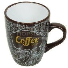 Кружка керамическая Кофейная фантазия BRSD024-1237, 390 мл