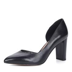 Туфли Черные туфли-лодочки из кожи на каблуке Respect