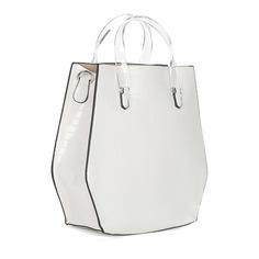 Сумки Белая вместительная сумка с дополнительной ручкой Portofiano