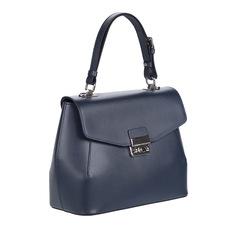 Сумки Синяя сумка из кожи с дополнительной ручкой Afina
