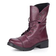 Ботинки Высокие велюровые ботинки на шнуровке в бордовом цвете Respect