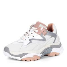 Кроссовки Бело-бежевые кроссовки из нубука и текстиля Ash