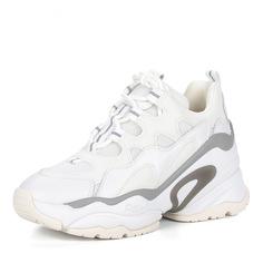 Кроссовки Белые кроссовки из кожи и текстиля Ash