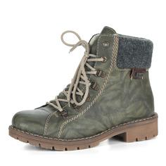 Ботинки Зеленые комфортные ботинки на шерсти Rieker
