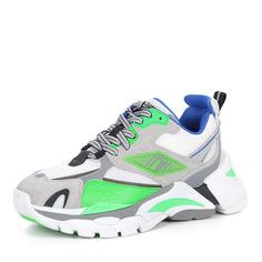 Кроссовки Серо-зеленые кроссовки из комбинированных материалов Ash