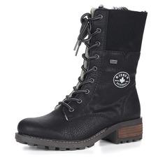 Ботинки Высокие черные ботинки на шнуровке Rieker