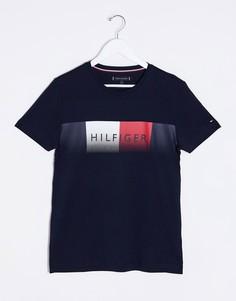 Темно-синяя футболка с логотипом Tommy Hilfiger-Темно-синий