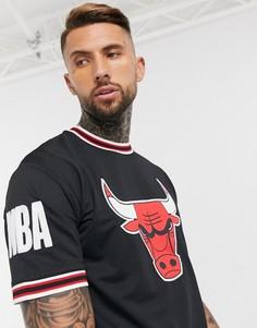"""Черная футболка в стиле oversized с аппликацией """"Chicago Bulls"""" New Era NBA-Черный"""