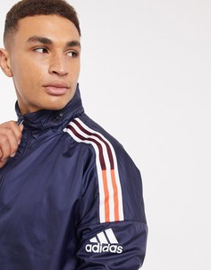 Ветровка чернильного цвета adidas Z.N.E-Темно-синий