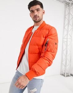 Оранжевая нейлоновая куртка Alpha Industries-Оранжевый