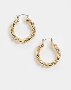 Серьги-кольца ASOS DESIGN-Золотой