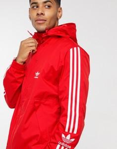 Красная ветровка на молнии adidas Originals Lock Up West-Красный