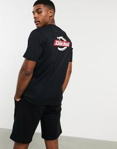 Черная футболка с принтом на спине Dickies-Черный