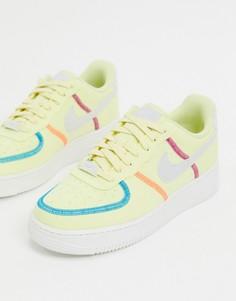 Желтые кроссовки Nike Air Force 1 07-Белый