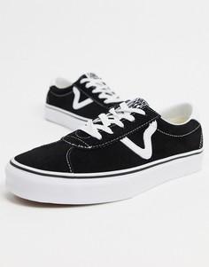 Черные замшевые кроссовки Vans UA Sport-Черный