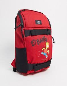 """Красный рюкзак с принтом """"El Barto""""VansX The Simpsons"""