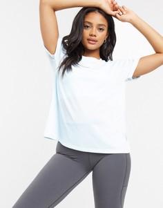 Футболка с короткими рукавами adidas-Синий