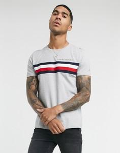 Серая футболка с полосками Tommy Hilfiger-Серый