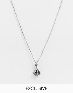 Серебристоеожерелье с подвеской в виде лапыReclaimed Vintage inspired-Золотой